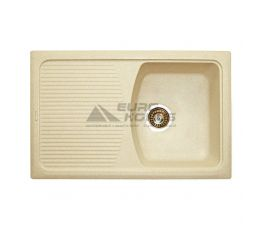 GRANITIKA Мойка врезная для кухни Cube Long крем (CL785020-206)