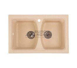 GRANITIKA Мойка врезная для кухни Double беж (D795020-800)