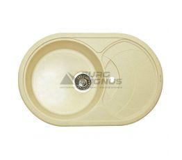 GRANITIKA Мойка врезная для кухни Oval крем (O785020-206)