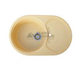 GRANITIKA Мойка врезная для кухни Oval беж (O785020-800)