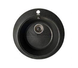 GRANITIKA Мойка врезная для кухни Round черный (R493619-100)