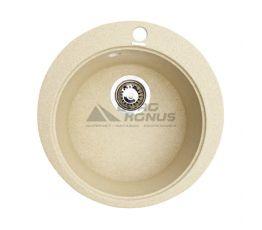 GRANITIKA Мойка врезная для кухни Round песок (R454520-85)