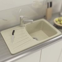 MOKO Мойка врезная для кухни Granite Napoli оборотная beige