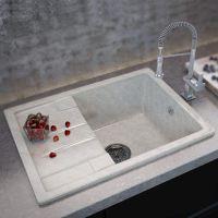 MOKO Мойка врезная для кухни Premium Torino оборотная marmo elegante