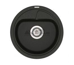 VANKOR Мойка врезная для кухни Polo без крыла black (PMR 01.44)