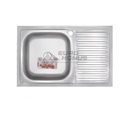 ZERIX Мойка накладная для кухни Z8050L-06-160P Polish правое крыло полированная