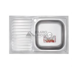 ZERIX Мойка накладная для кухни Z8050R-06-160E Satin левое крыло матовая