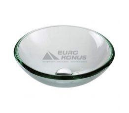 KRAUS Умывальник накладной для ванной комнаты Clear GV-101-19 мм