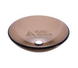 KRAUS Умывальник накладной для ванной комнаты Clear Brown GV-103-12 мм