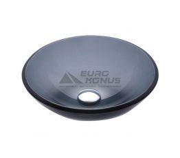 KRAUS Умывальник накладной для ванной комнаты Black GV-104-12 мм