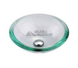 KRAUS Умывальник накладной для ванной комнаты Clear GV-150-19 мм