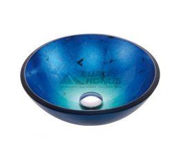 KRAUS Умывальник накладной для ванной комнаты Irruption Blue GV-204-12 мм