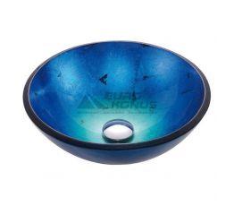 KRAUS Умывальник накладной для ванной комнаты Irruption Blue GV-204-19 мм