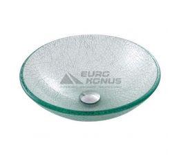 KRAUS Умывальник накладной для ванной комнаты Broken Glass GV-500-12 мм