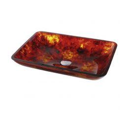 KRAUS Умывальник накладной для ванной комнаты Red Amber GVR-400-RE-15 мм