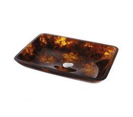 KRAUS Умывальник накладной для ванной комнаты Dark Amber GVR-410-RE-15 мм