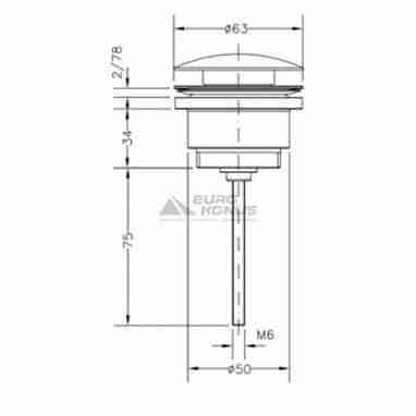 GENEBRE Клапан сливной для раковин Luxe Сlick хром (100211 45)