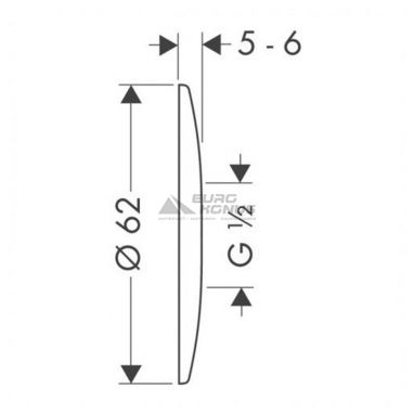HANSGROHE Декоративная накладка на эксцентрик (06010000)