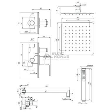DEANTE Душевая система однорычажная встроенная Anemon NAC 09AP
