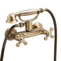 GENEBRE Смеситель для душа двухвентильный New Regent Classic (68531 09 43 66) bronze