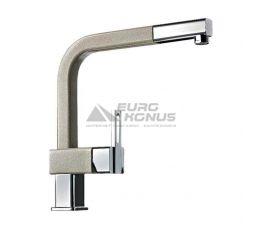 ALVEUS Смеситель для кухни однорычажный с выносным шлангом AM60 A-21M cappucino-metallic (1070179)