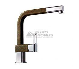 ALVEUS Смеситель для кухни однорычажный с выносным шлангом AM60 CHR +A57M espresso (1088961)