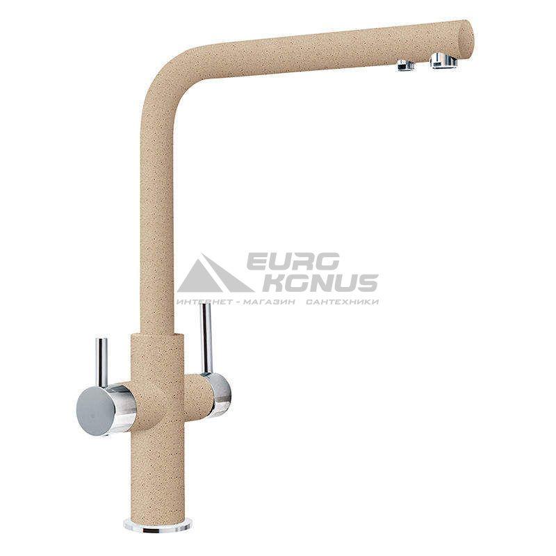 FRANKE Смеситель для питьевой воды двухрычажный NEPTUNE CLEAR WATER хром/бежевый (115.0370.709)