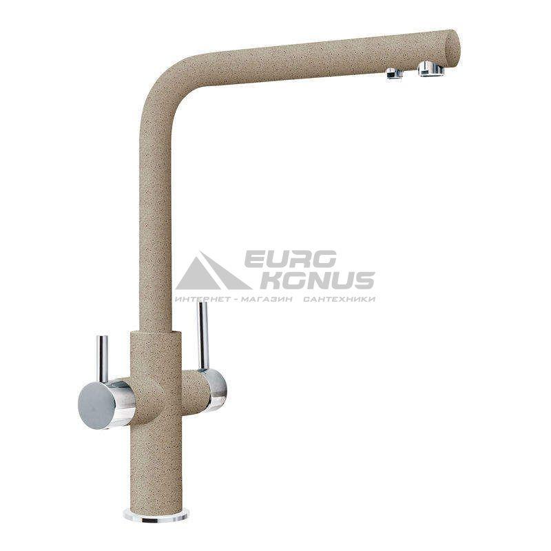 FRANKE Смеситель для питьевой воды двухрычажный NEPTUNE CLEAR WATER хром/миндаль (115.0370.698)