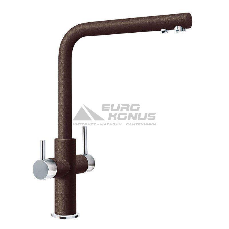 FRANKE Смеситель для питьевой воды двухрычажный NEPTUNE CLEAR WATER хром/шоколад (115.0370.696)