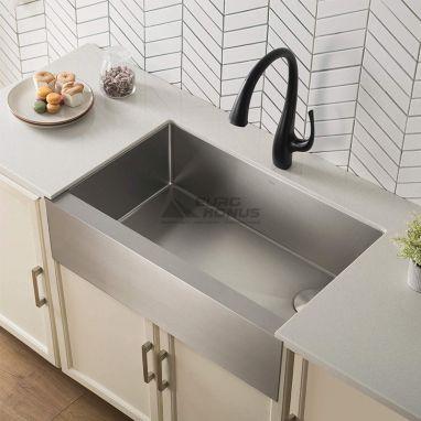 KRAUS Смеситель для кухни однорычажный с выносным шлангом Ansel KPF-1675 MB черный