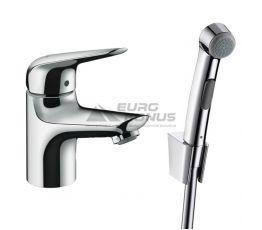 HANSGROHE Смеситель для умывальника однорычажный с гигиеническим душем Novus (71144000)