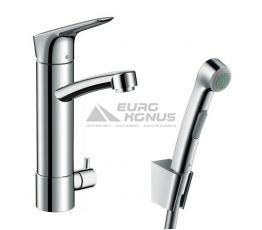 HANSGROHE Смеситель для умывальника однорычажный с гигиеническим душем и дополнительным краном Talis S (31515000)