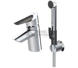 ORAS Смеситель для умывальника однорычажный с гигиеническим душем Optima (2712F)