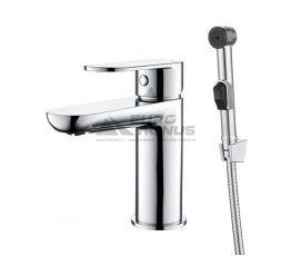 TOPAZ Смеситель для умывальника однорычажный с гигиеническим душем Barts (07204-H36)