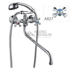 ZERIX Смеситель для ванны двухвентильный T61-DFR-A827