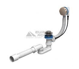 АНИ Пласт Сифон для ванны с переливом-полуавтоматом 520 мм и гибкой трубкой 375, 70 х 40/50 (EM701)