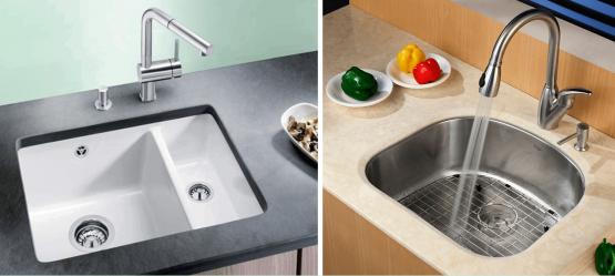 Подстольные кухонные мойки: современные новшества