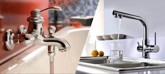 Замена кухонного смесителя в ванную комнату