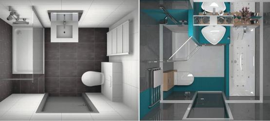 Свежие решения для маленькой ванной комнаты