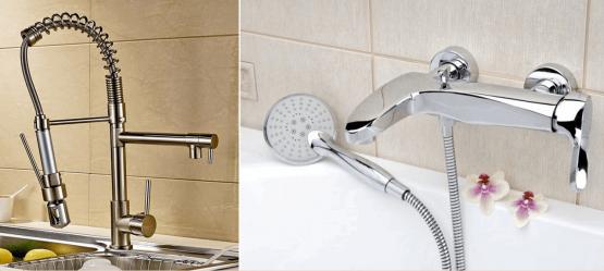 Отличия смесителя на кухню и в ванную комнату