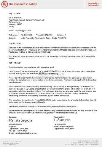 Сертификат Firat (Фират) 12